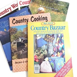 Vintage | Country Cooking Crafting Magazines